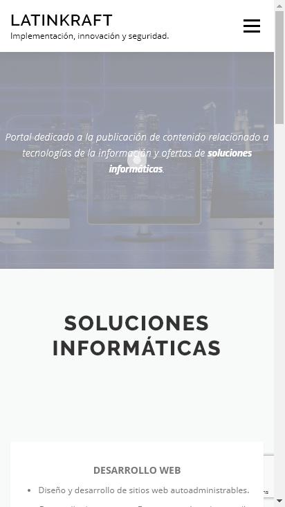 Screenshot mobile - https://www.latinkraft.com/