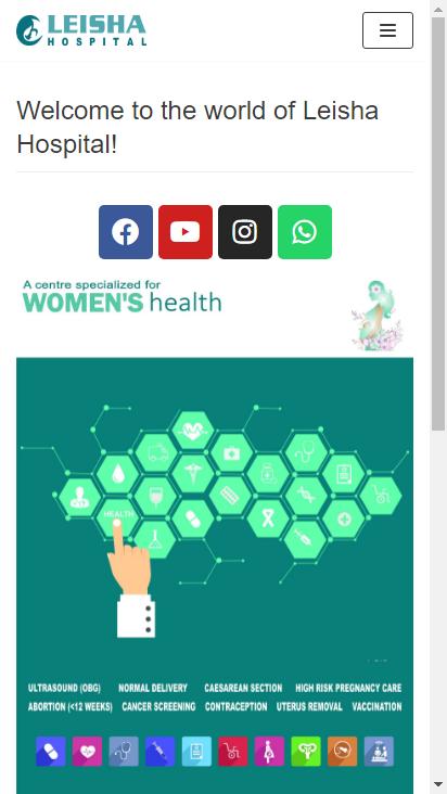 Screenshot mobile - https://www.leishahospital.com/