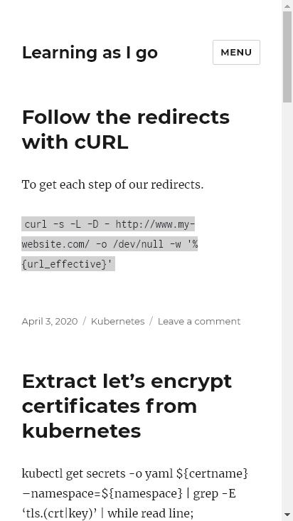 Screenshot mobile - https://www.linuxcomputing.org/
