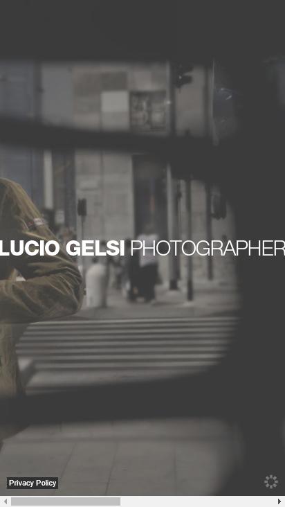 Screenshot mobile - https://www.luciogelsi.com/en/