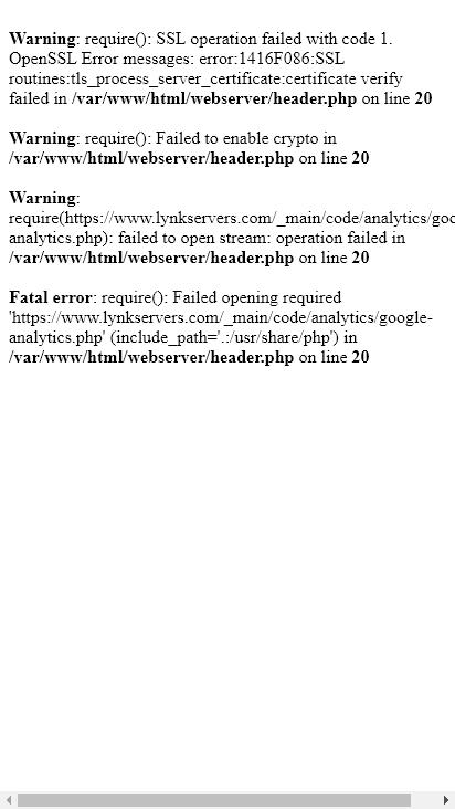 Screenshot mobile - https://www.lynkservers.com/