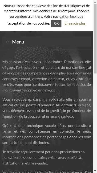 Screenshot mobile - https://magalilange.com/