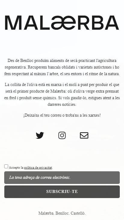 Screenshot mobile - https://malaerba.com/