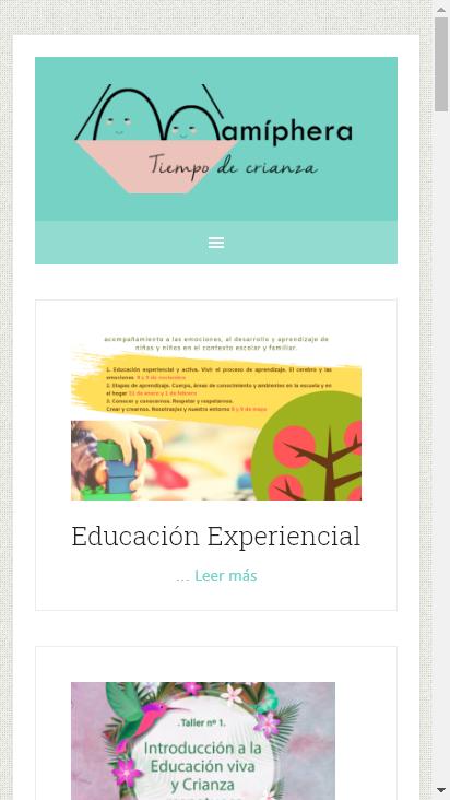 Screenshot mobile - https://www.mamiphera.es/