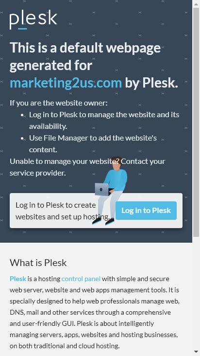 Screenshot mobile - https://marketing2us.com/