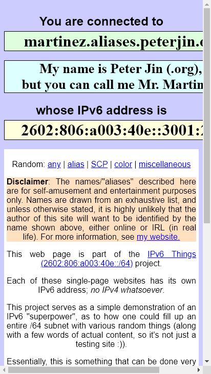 Screenshot mobile - https://martinez.aliases.peterjin.org/
