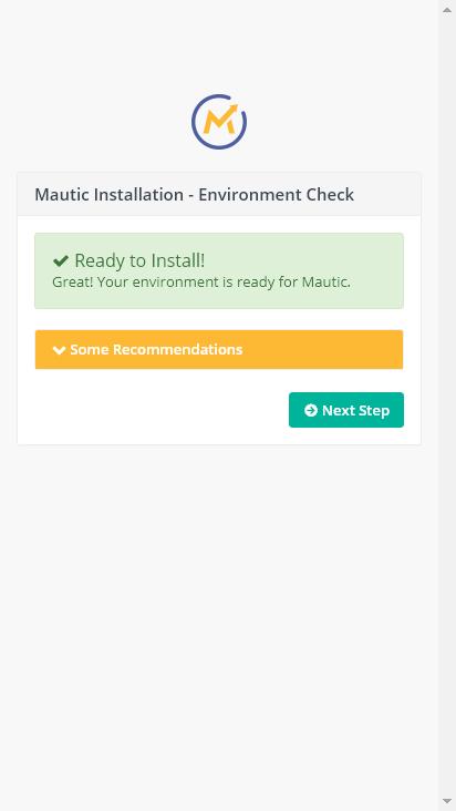 Screenshot mobile - https://mautic.eukast.com/index.php/installer