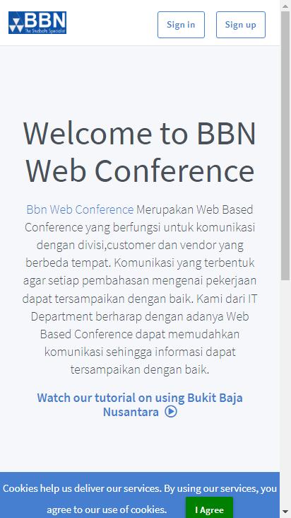 Screenshot mobile - https://meeting.bbn.co.id/b