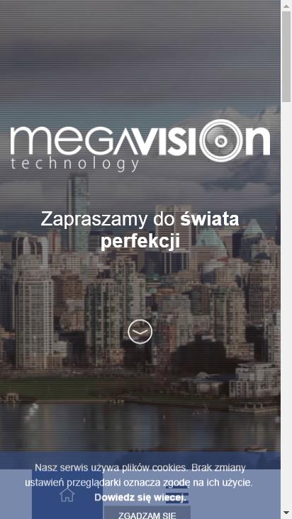 Screenshot mobile - https://www.megavision.pl/