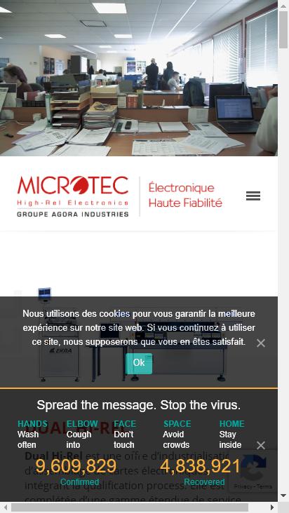 Screenshot mobile - https://www.microtec-agora.fr/