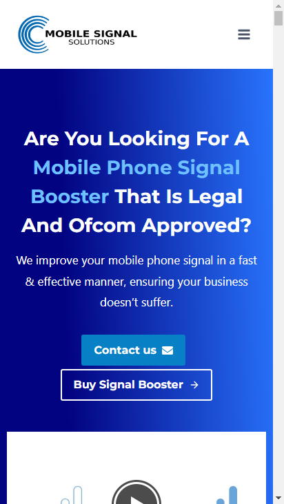 Screenshot mobile - https://mobilesignalsolutions.co.uk/