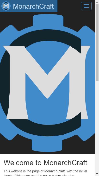 Screenshot mobile - https://monarchcraft.net/