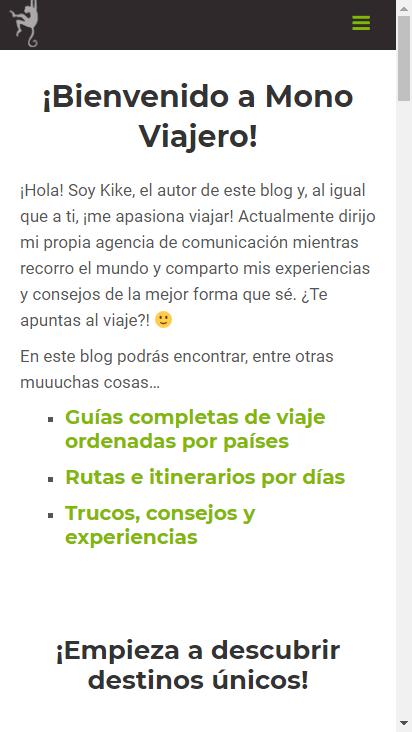 Screenshot mobile - https://www.monoviajero.com/