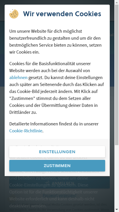 Screenshot mobile - https://my.easyname.at/de/anmelden