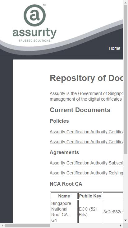 Screenshot mobile - https://www.assurity.sg/nca.html