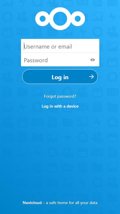 Screenshot mobile - https://nextcloud.directline-klingenthal.de/login