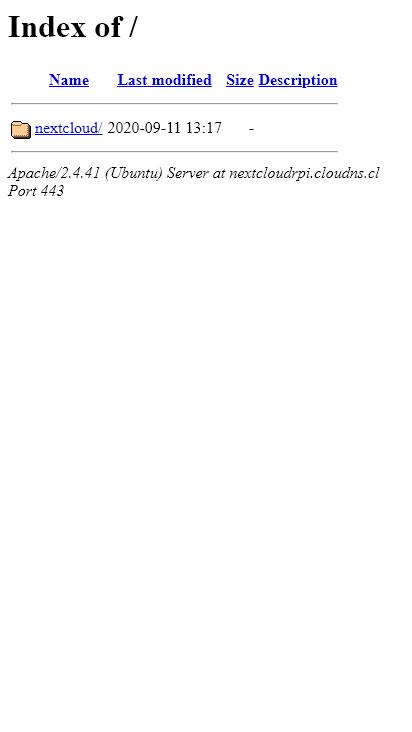 Screenshot mobile - https://nextcloudrpi.cloudns.cl/