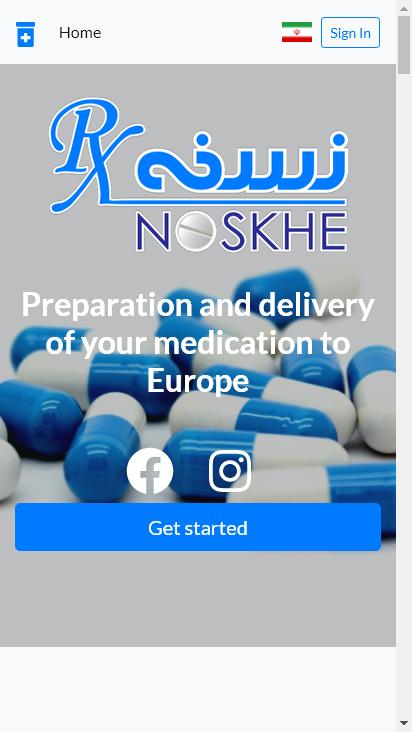 Screenshot mobile - https://www.noskhe.eu/
