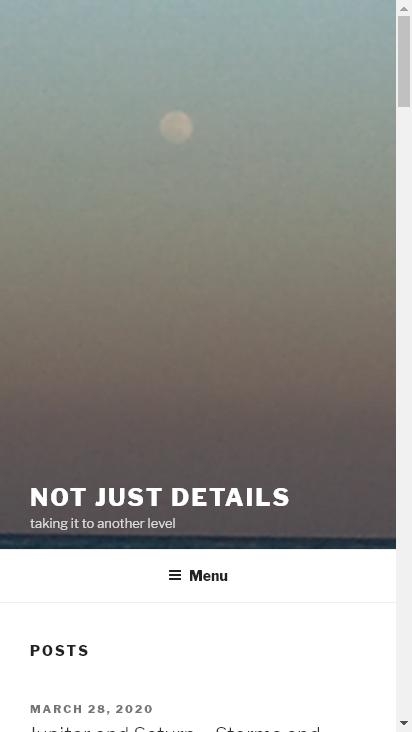 Screenshot mobile - https://notjustdetails.com/