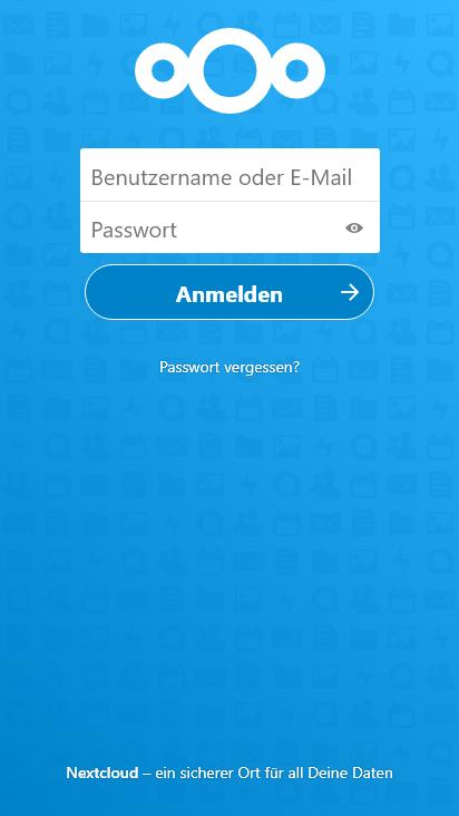 Screenshot mobile - https://omv-kuro.duckdns.org:30443/login
