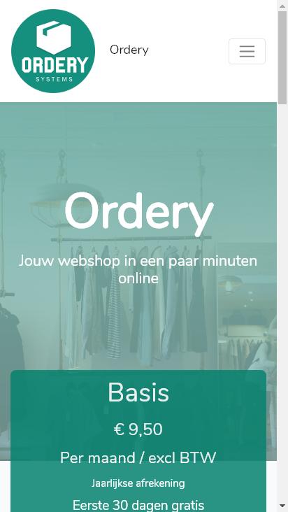 Screenshot mobile - https://www.ordery.nl/