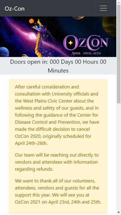 Screenshot mobile - https://oz-con.com/