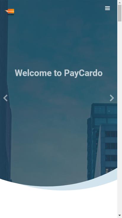Screenshot mobile - https://paycardo.com/