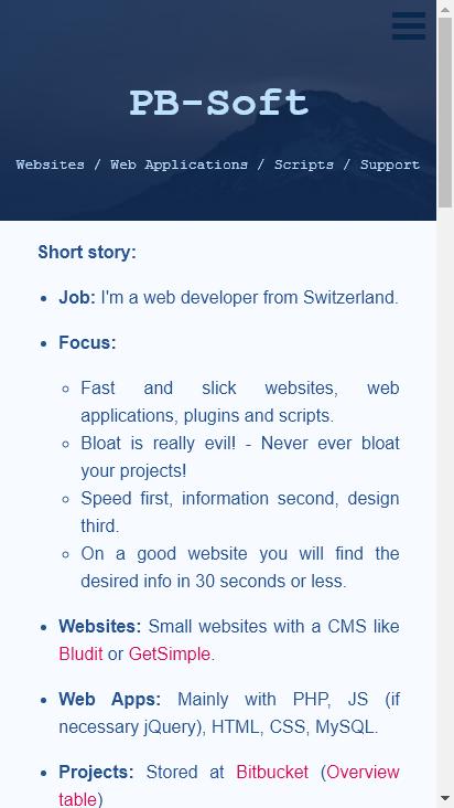 Screenshot mobile - https://pb-soft.com/