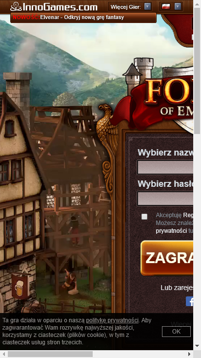 Screenshot mobile - https://pl.forgeofempires.com/
