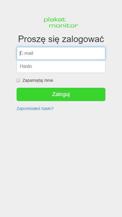 Screenshot mobile - https://plakatmonitor.pl/login