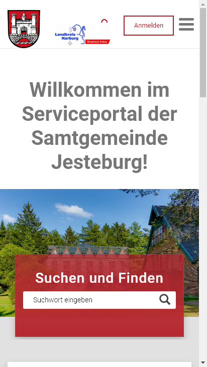 Screenshot mobile - https://portal.jesteburg.de/