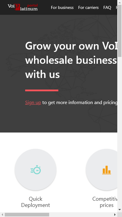 Screenshot mobile - https://portal.voiplatinum.com/