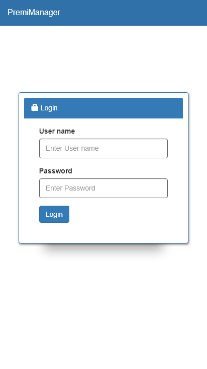 Screenshot mobile - https://premimanager.premisol.net/login