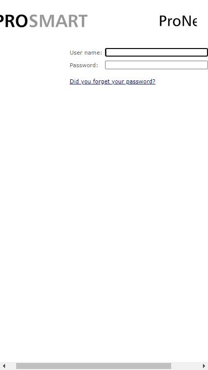 Screenshot mobile - https://prosmart.ittmc.com/Login.aspx?ReturnUrl=%2fdefault.aspx