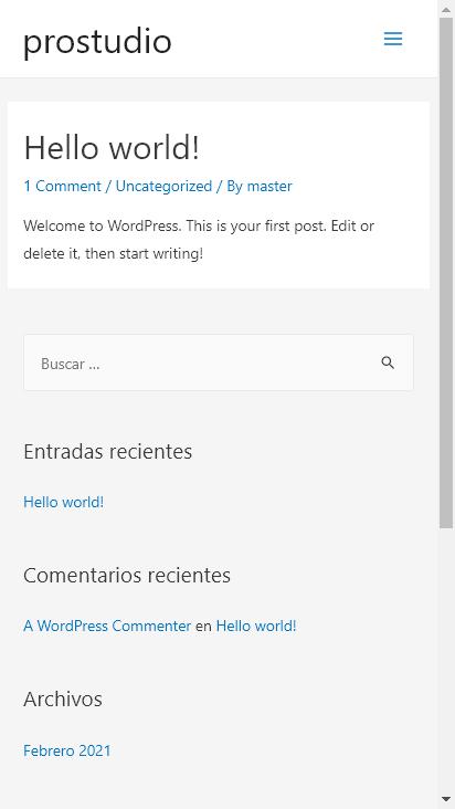 Screenshot mobile - https://prostudio.cl/