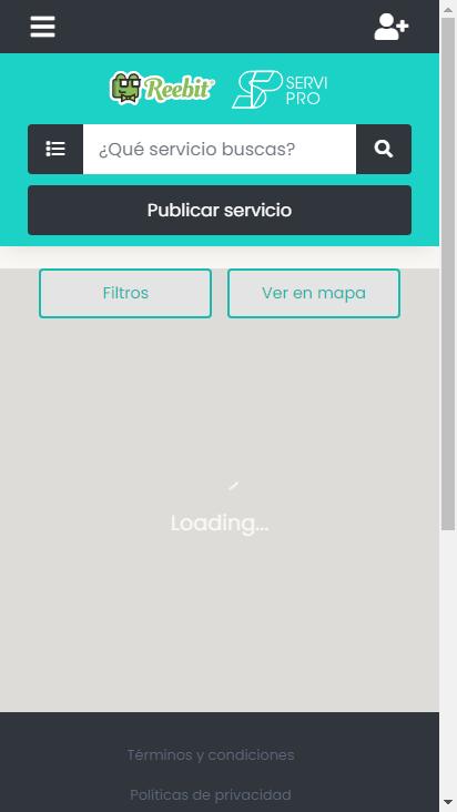 Screenshot mobile - https://providencia-test.reebit.co/providencia/home