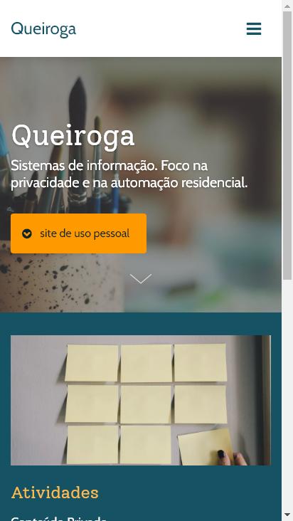Screenshot mobile - https://queiroga.com.br/