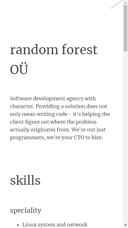 Screenshot mobile - https://randomforest.ee/