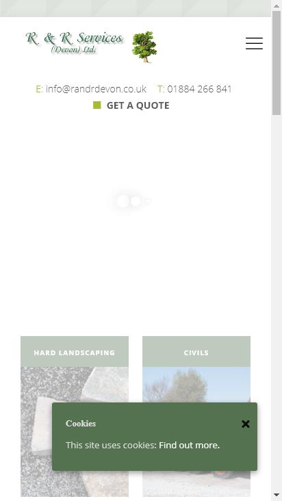 Screenshot mobile - https://www.randrdevon.co.uk/