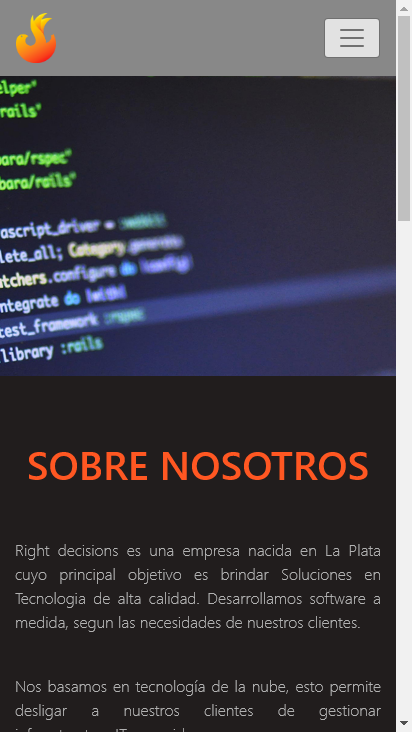 Screenshot mobile - https://rightdecisions.com.ar/inicio