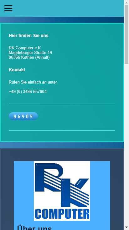 Screenshot mobile - https://www.rk-computer.org/