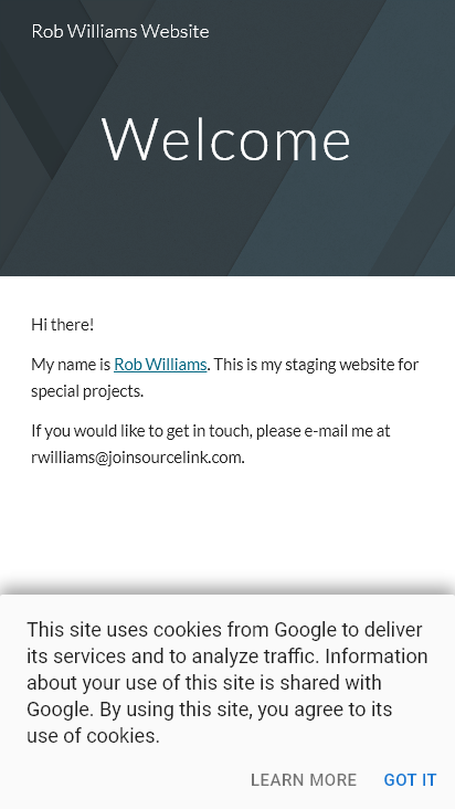 Screenshot mobile - https://www.rob-williams.com/