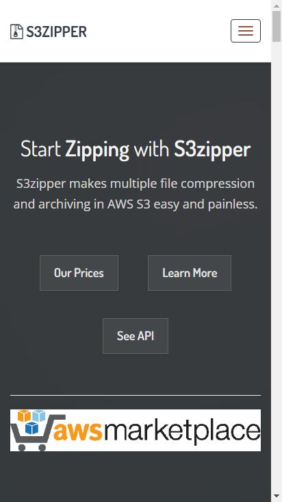 Screenshot mobile - https://s3zipper.com/