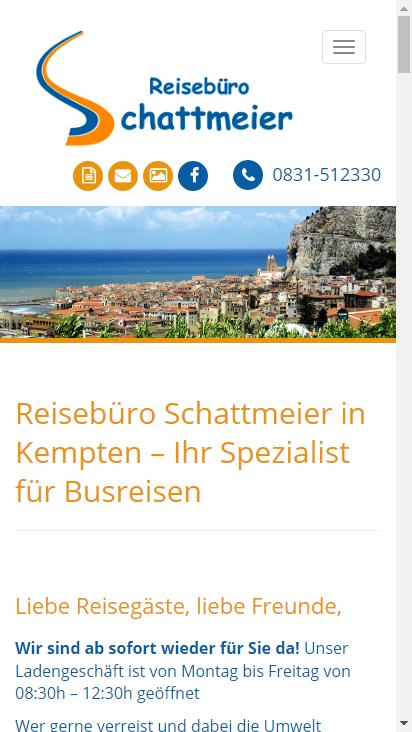 Screenshot mobile - https://schattmeier.de/