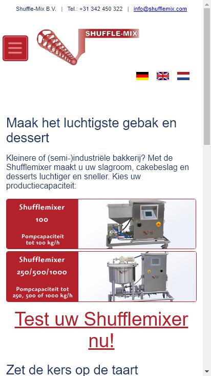 Screenshot mobile - https://shufflemix.de/