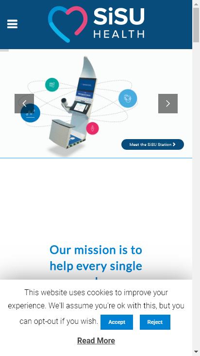 Screenshot mobile - https://sisuhealthgroup.com/