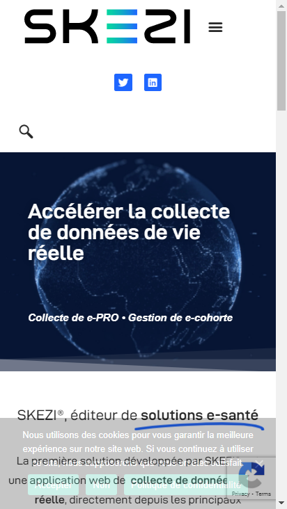 Screenshot mobile - https://skezi.eu/