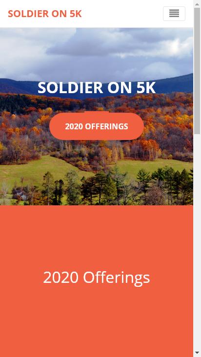 Screenshot mobile - https://soldieron5k.run/
