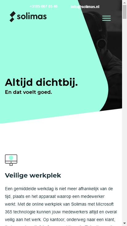 Screenshot mobile - https://www.solimas.nl/