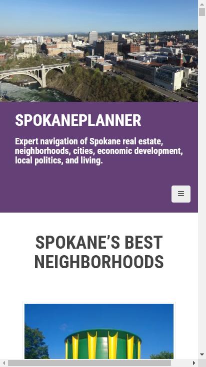 Screenshot mobile - https://spokaneplanner.com/